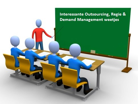 Interessante Outsourcing Regie en Demand Management weetjes