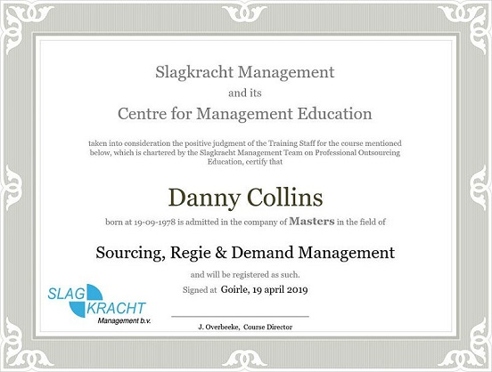 certificaat Sourcing, regie en demand management opleidingen